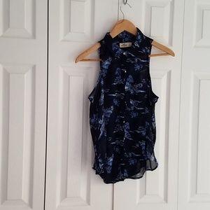 Hollister  Palm Tree Island sleeveless blouse